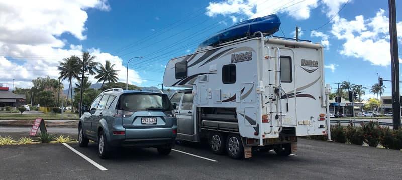 Volkswagen Truck Camper fits in parking spot