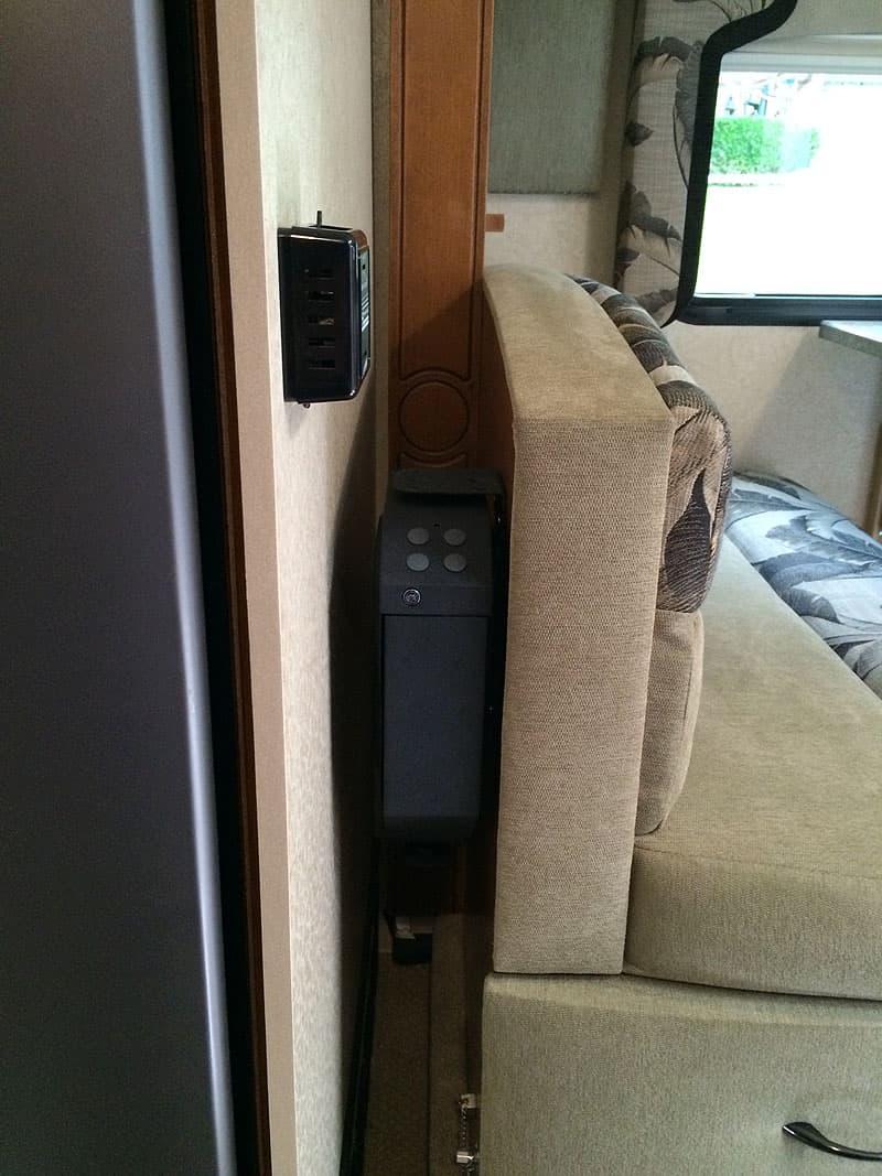Vault hidden in truck camper