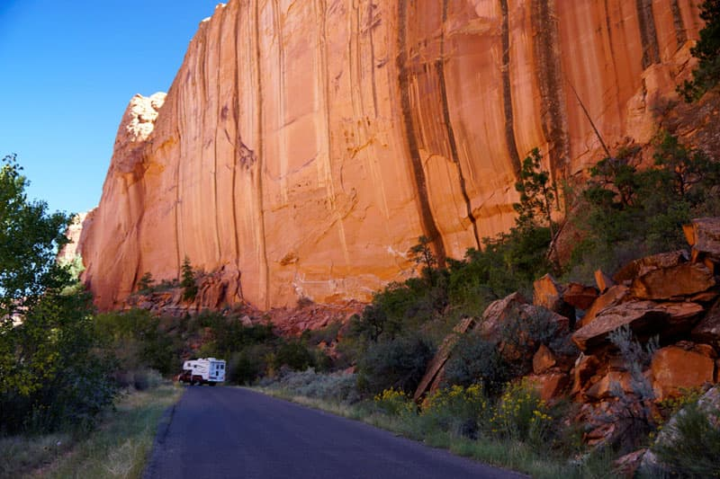 Vertical walls on the Burr Trail