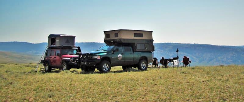 Viewing camp Wyoming