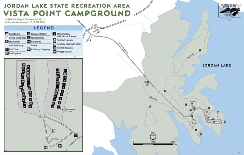 Vista Point Campground, Jordan Lake State Recreation Area, North Carolina