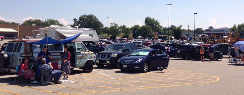Walmart Parking Lot eclipse watching