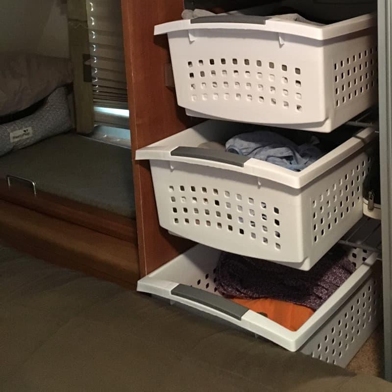 Bottom basket in Wardrobe Closet