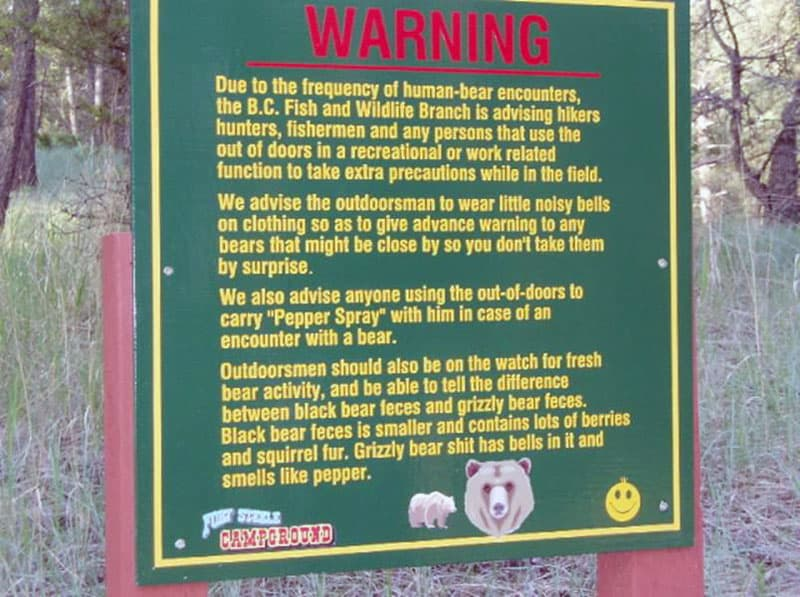 Warning About Bears