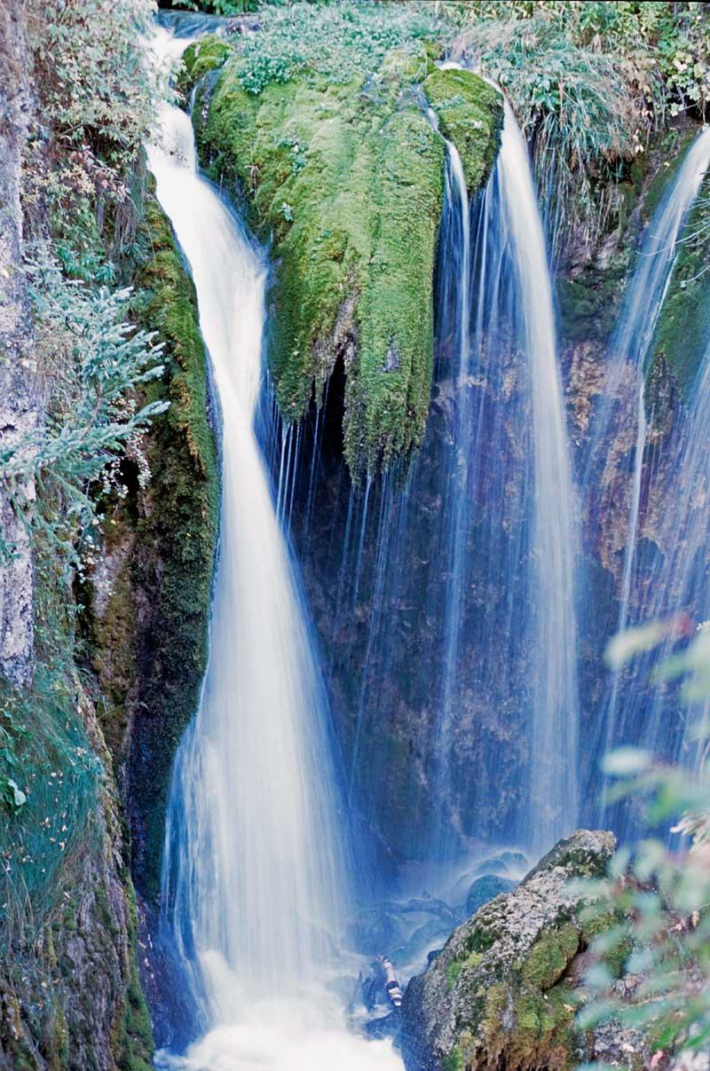 Waterfalls in the Black Hills of South Dakota