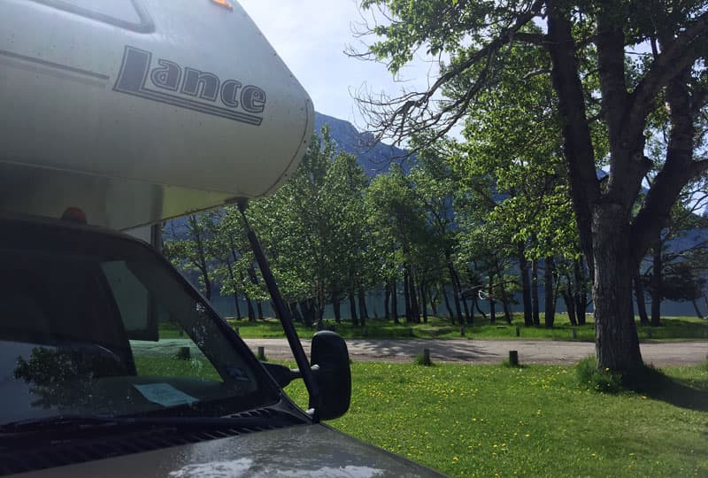 Townsite Campground in Waterton Lake