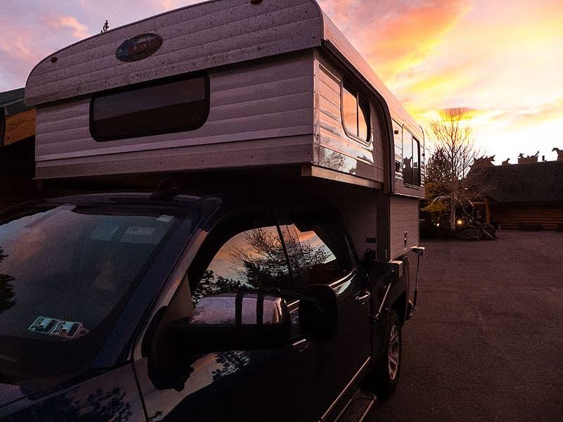 West Yellowstone at sunrise