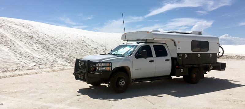 Alaskan Camper at White Sands National Monument