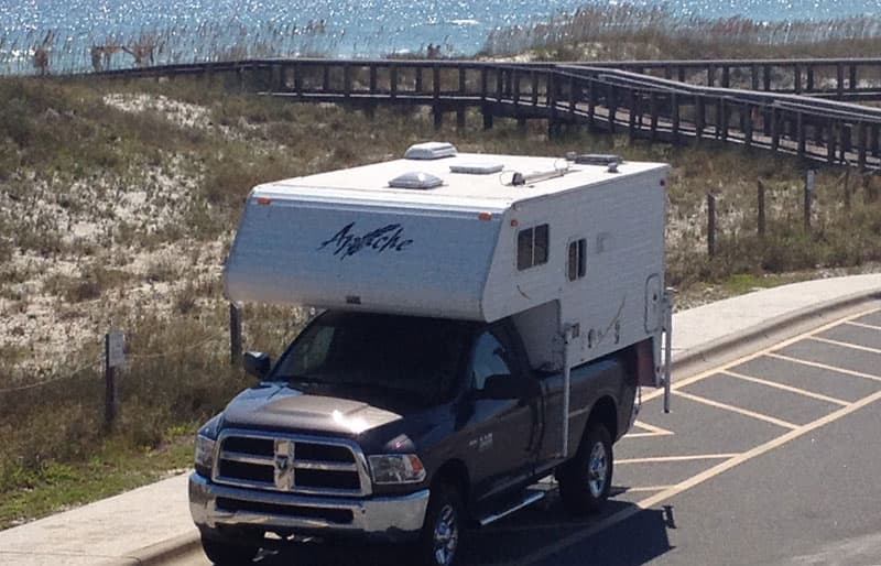 first-camper-St-Georges-Island-State-Park-Florida