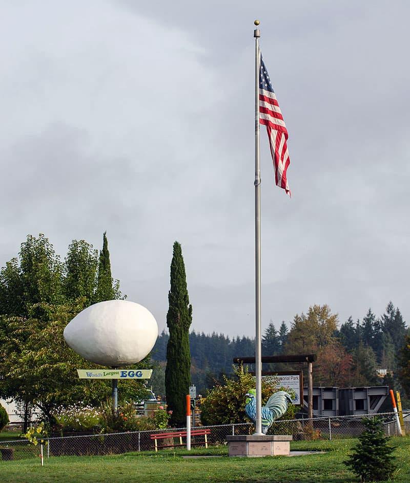 World's Largest Egg in Winlock, Washington