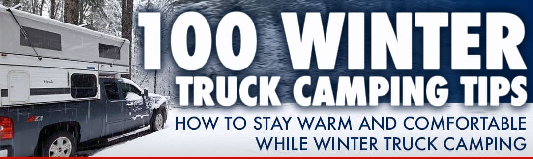 Winter-camping-tips for truck campers