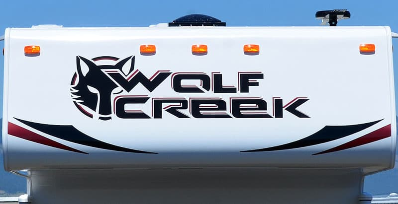 Wolf Creek logo and wolf head graphic