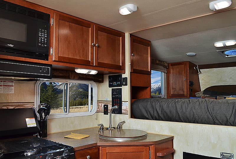 All LED interior lighting in Wolf Creek Campers