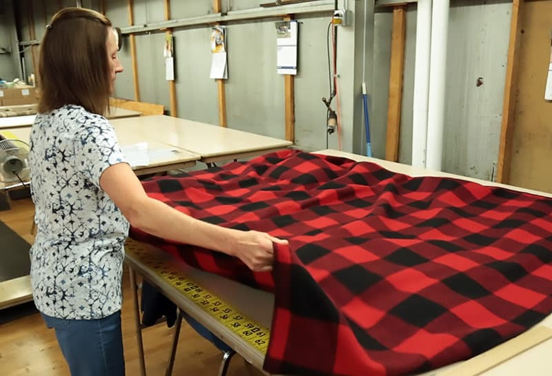 Woolrich Camper factory with Buffalo Check fabric