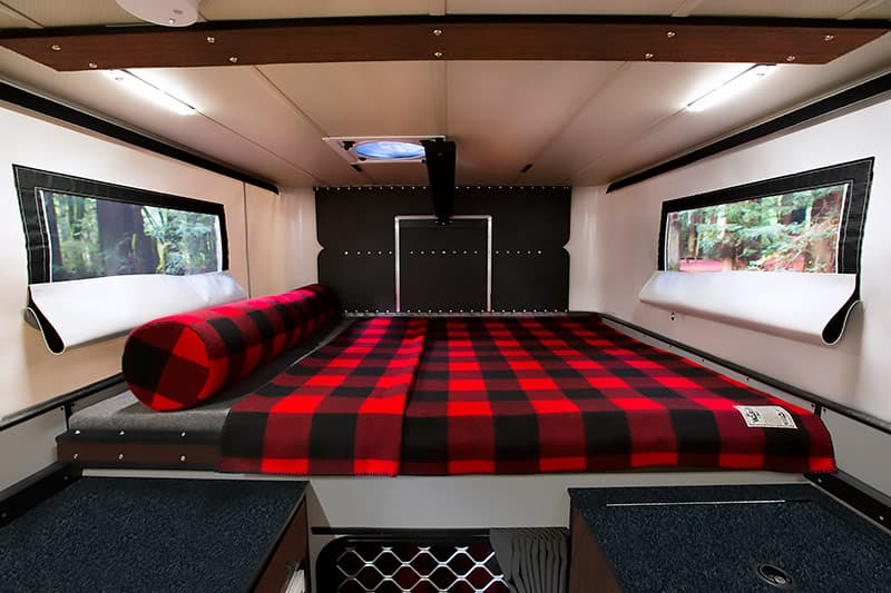 Fleet Cabover Bed with Woolrich blanket