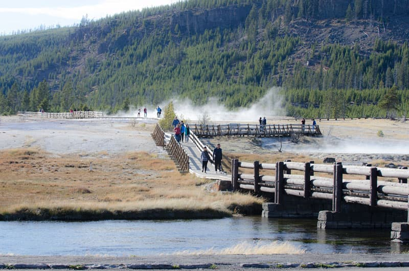 Yellowstone National Park boardwalks
