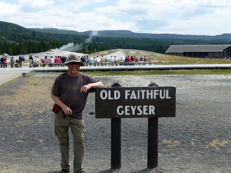 Yellowstone, waiting for Old Faithful