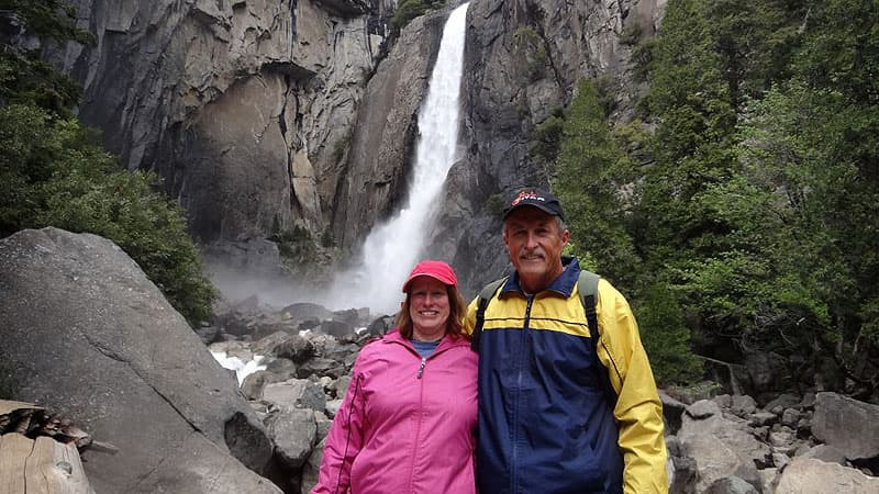 The Coushaines in Yosemite National Park
