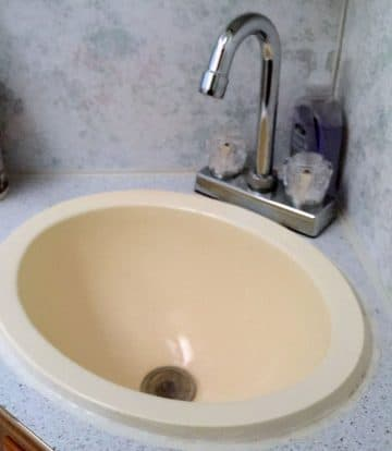 Bathroom sink replacement