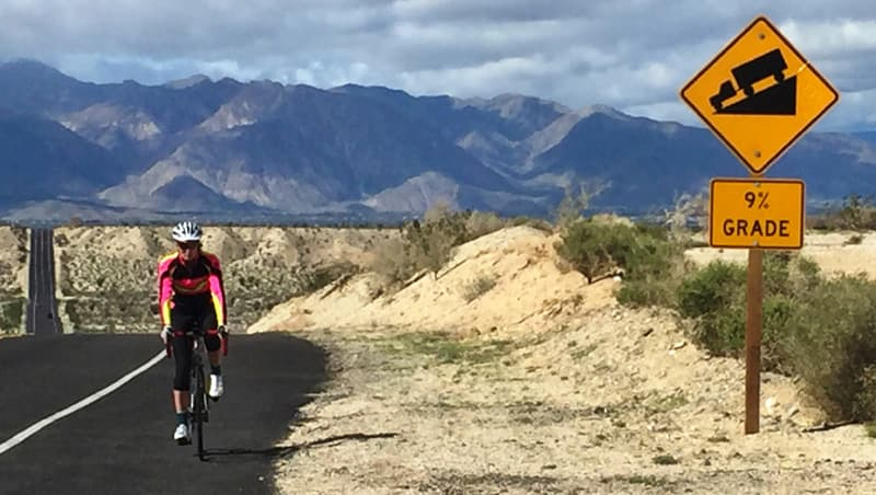 Bicycling in the mountains