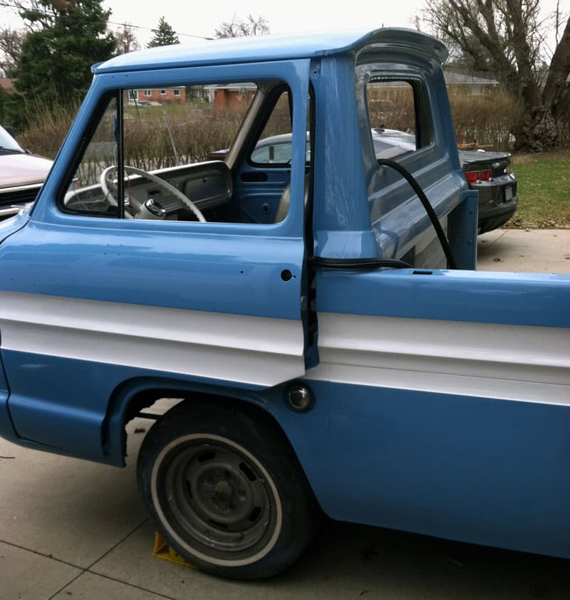 Corvair truck with fresh paint