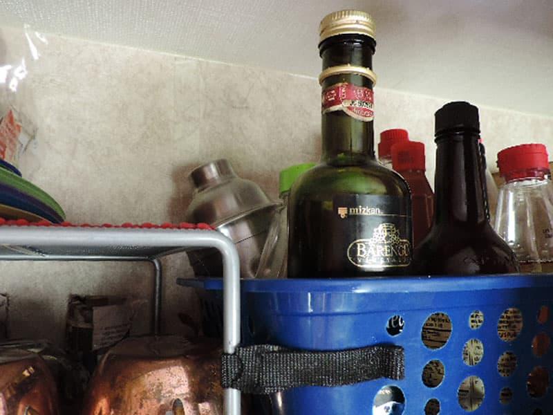 Cabinet organization for bottles