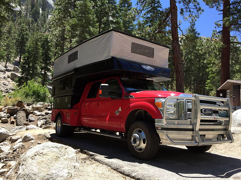 Campground with Phoenix Custom Pop-Up Camper