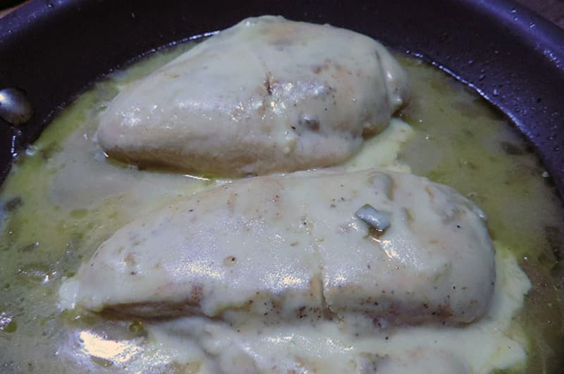 Chicken verde camping dish