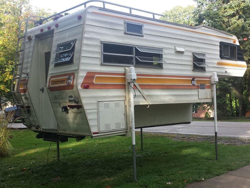 Vintage camper electric jack upgrade