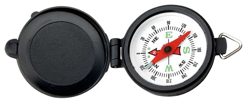 Non-electric compass is a hiking essential