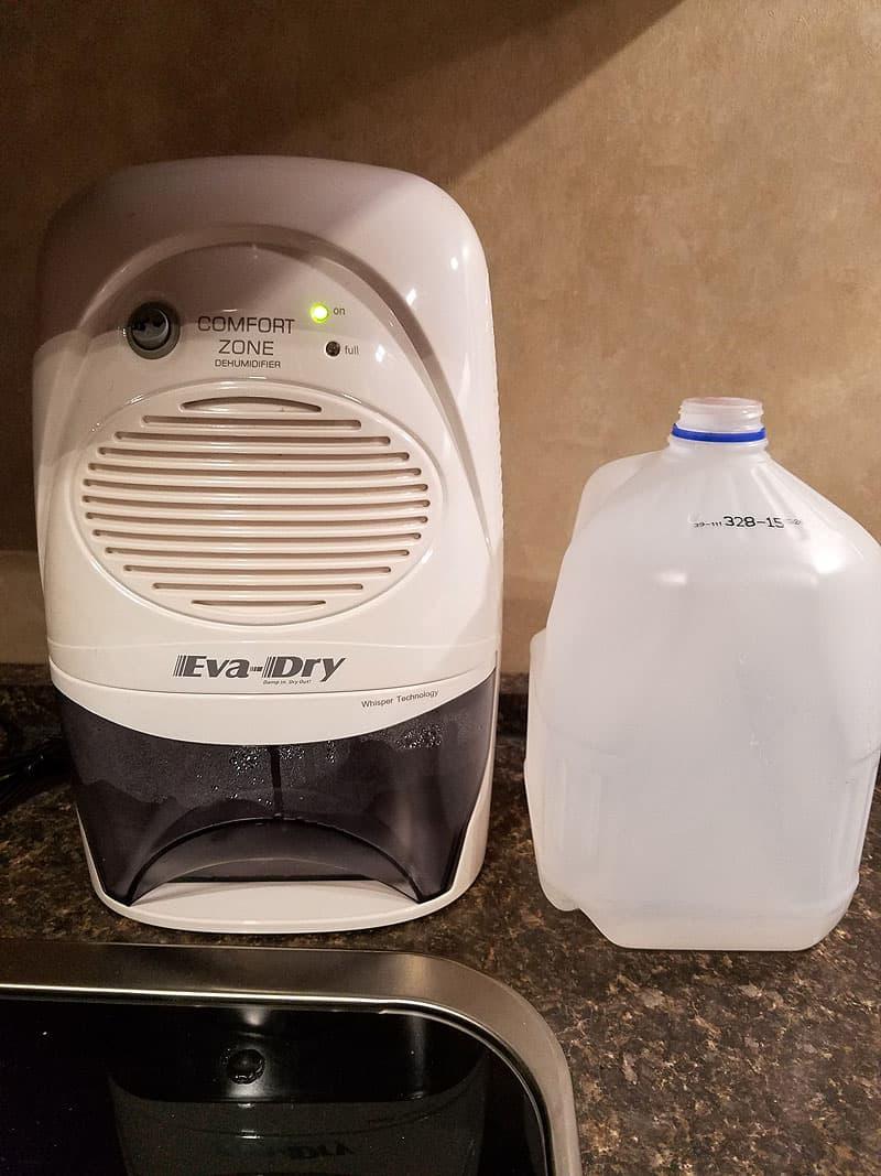 Eva-dry Edv-2200 Dehumidifier in camper RV
