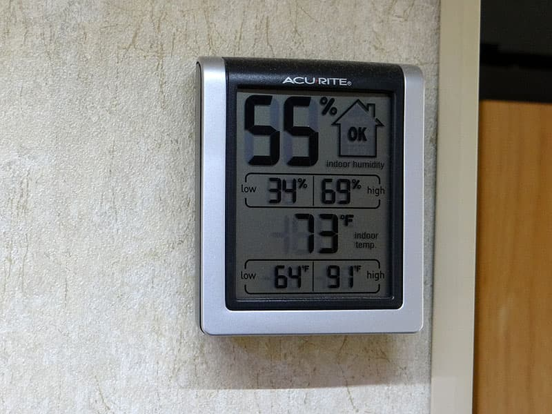 AcuRite 00613A1 Indoor Humidity Monitor in a camper RV