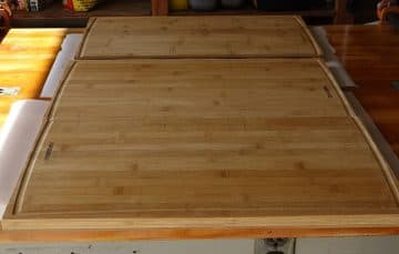 Counter top assembly for truck camper