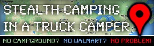 Stealth Camping truck camper