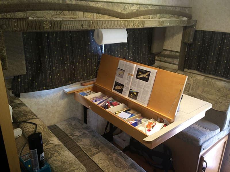 dinette-table-art-supplies-inside