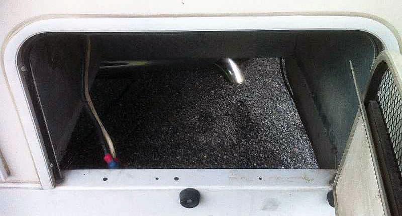 empty generator compartment