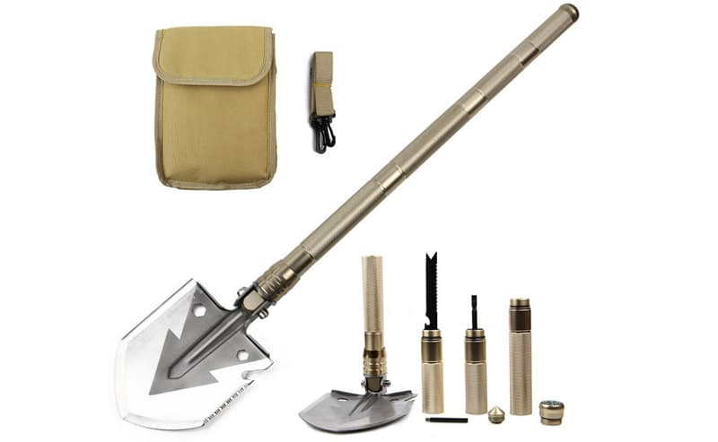 Entrenching tool when camping