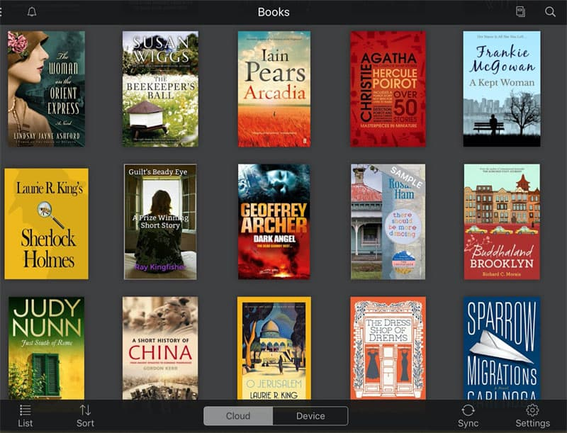Ereader Book List