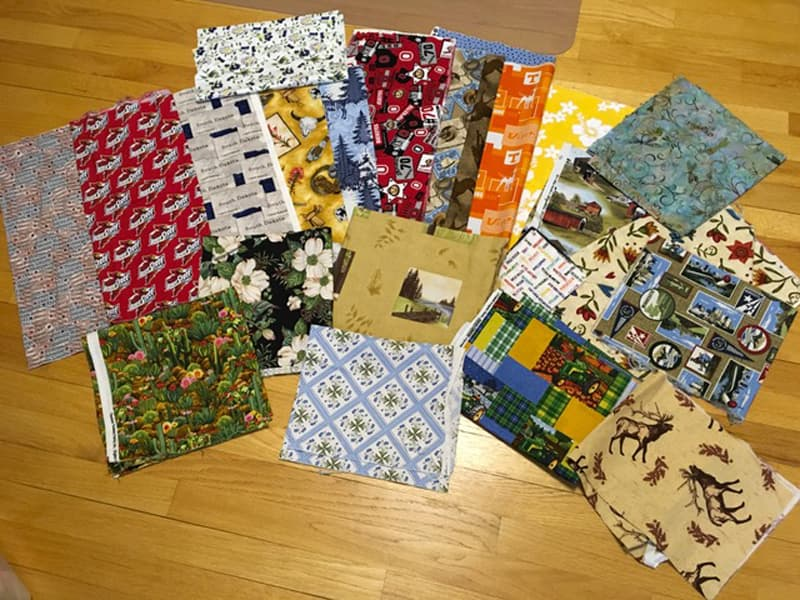 Fabric collection from the road