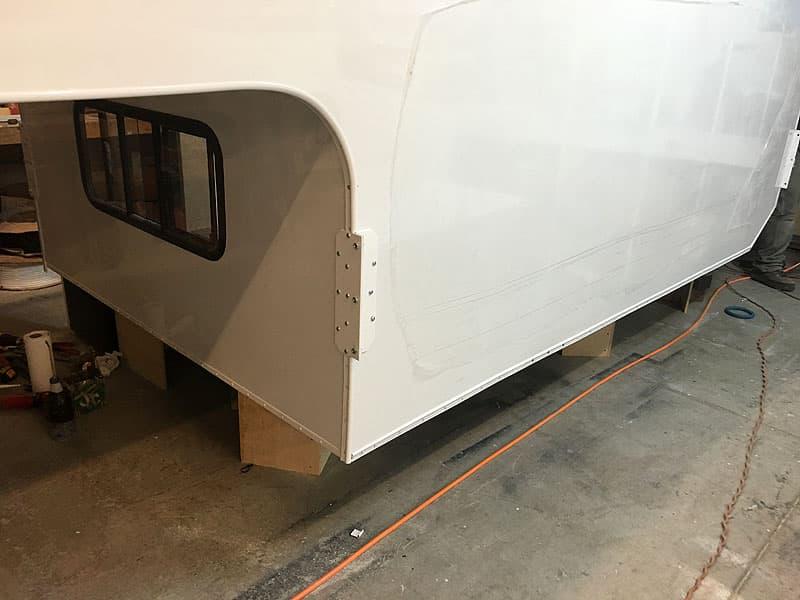 fiberglass exterior on a Phoenix camper