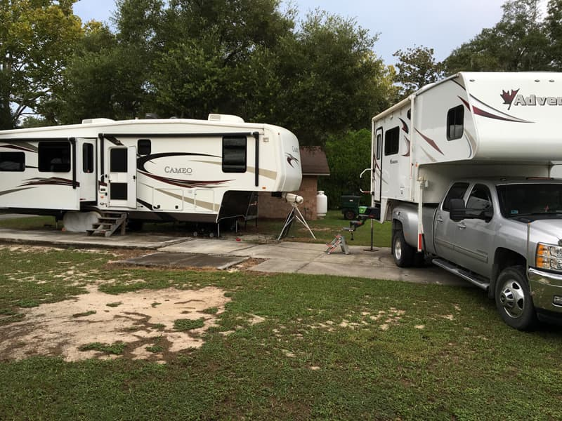 fifth wheel stays in Florida while use the truck camper