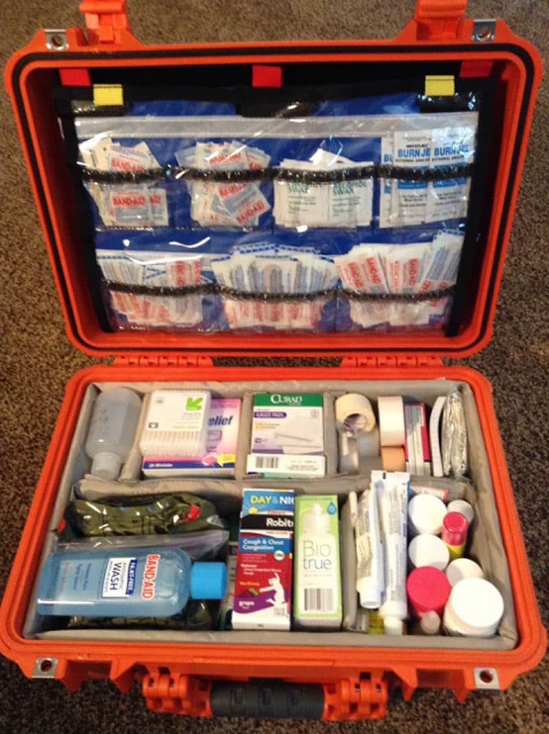 Pelican 1500 EMS case first aid kit