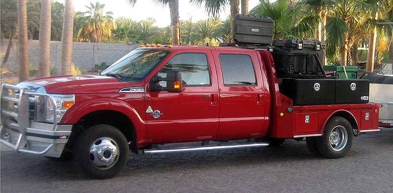 Flatbed Ford dual purpose vehicle