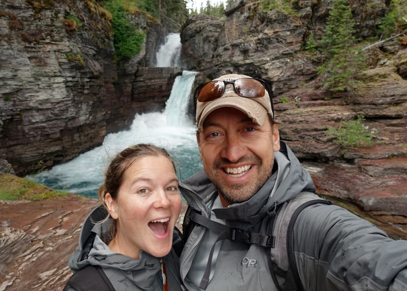 Lauri and Jase in Glacier National Park