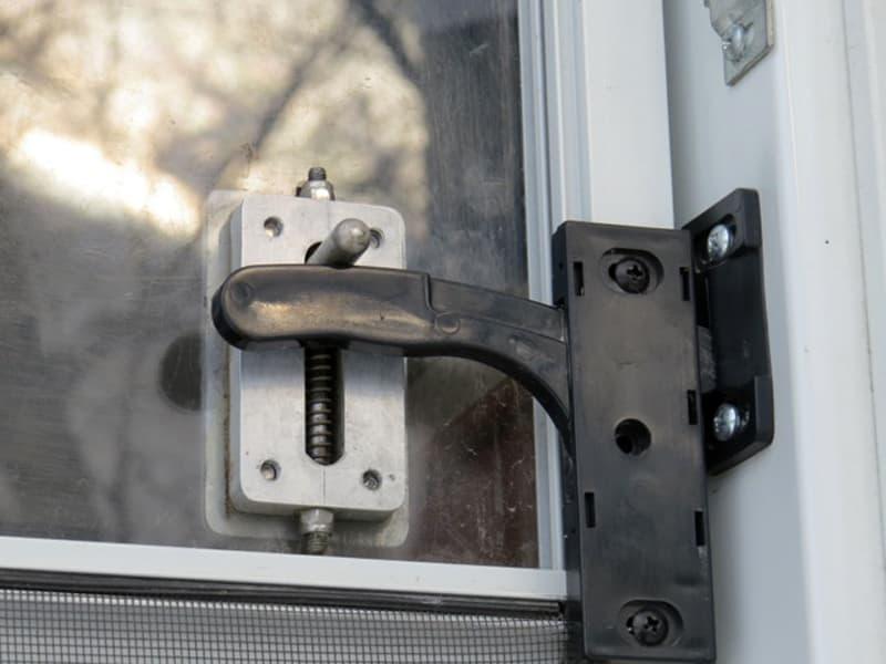 screen door handle modification