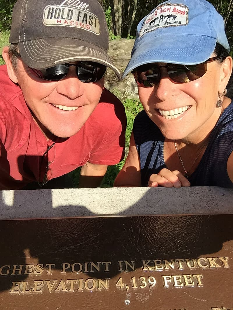 Summiting highest point in Kentucky