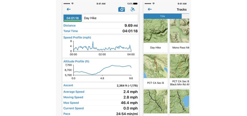 Gaia app, hiking essentials