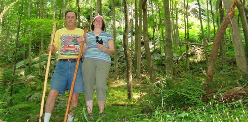 When hiking take walking sticks
