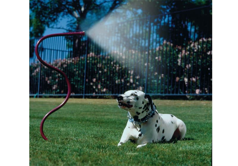 Hose mister to keep cool in summer when camping