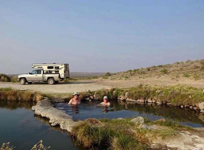 Hot springs in the Oregon desert